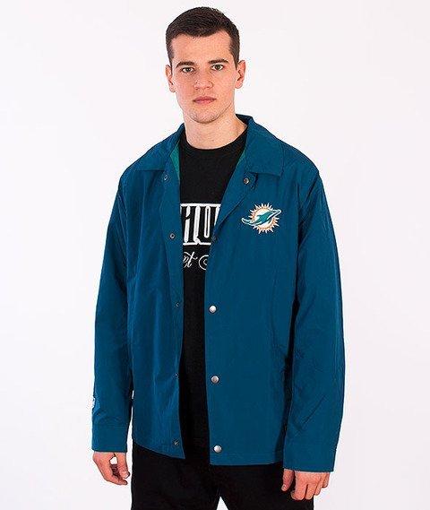 Majestic-Miami Dolphins Coach Jacket Blue