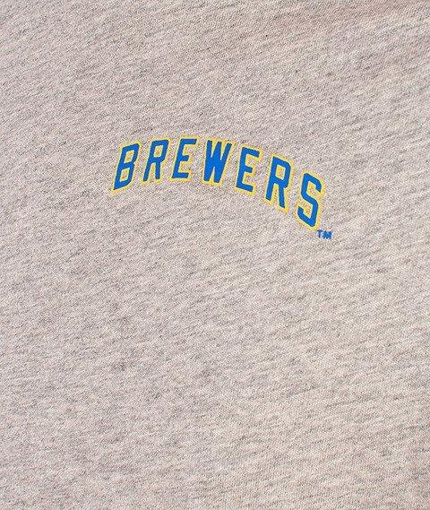 Majestic-Millwaukee Brewers Raglan Grey/Blue