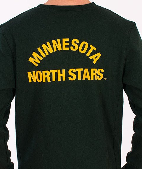 Majestic-Minnesota North Stars Crewneck Green