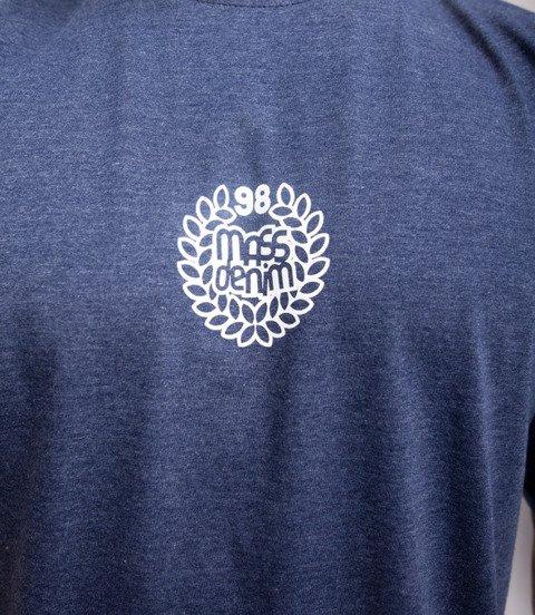 Mass BASE SMALL LOGO T-Shirt Melanż Granatowy