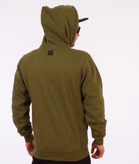 Mass-Base Bluza Z Kapturem Khaki