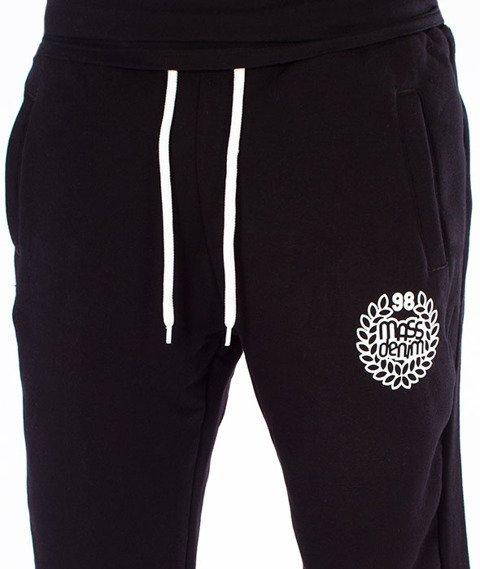 Mass-Base Regular Fit Spodnie Dresowe Czarne
