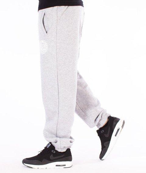 Mass-Base Regular Fit Spodnie Dresowe Szare