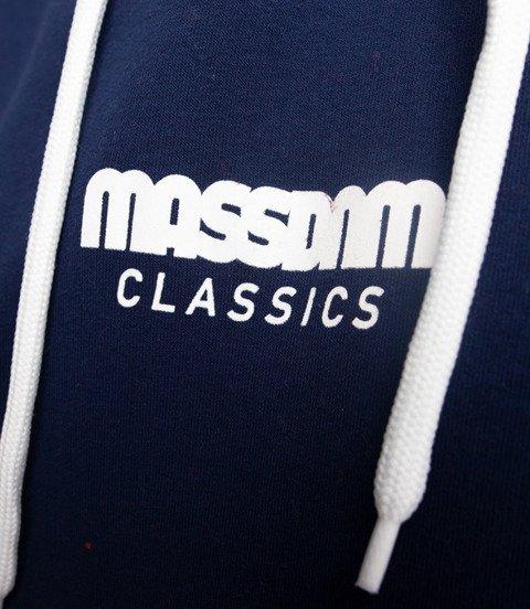 Mass CAPITAL Bluza z Kapturem Granatowy