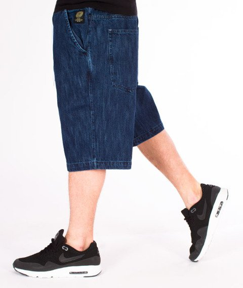 Mass-Campus Shorts Jeans Straight Fit Dark