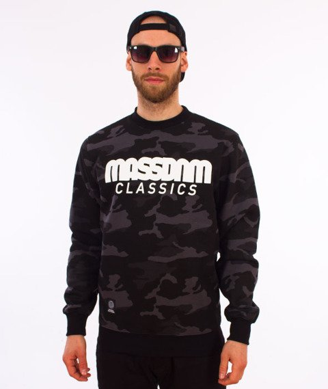 Mass-Classics Crewneck Bluza Camo/Black