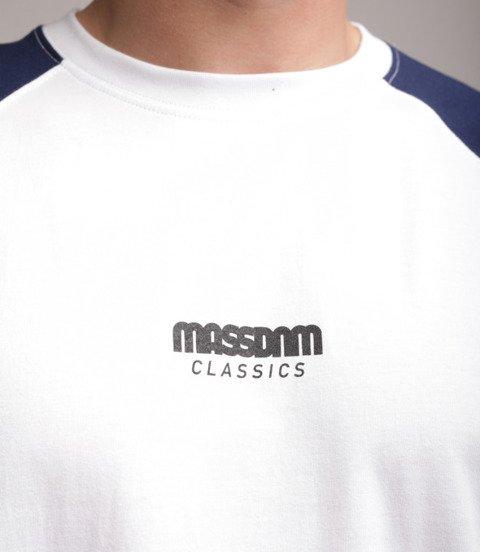 Mass Classics Small Logo Longsleeve Biały/Granatowy