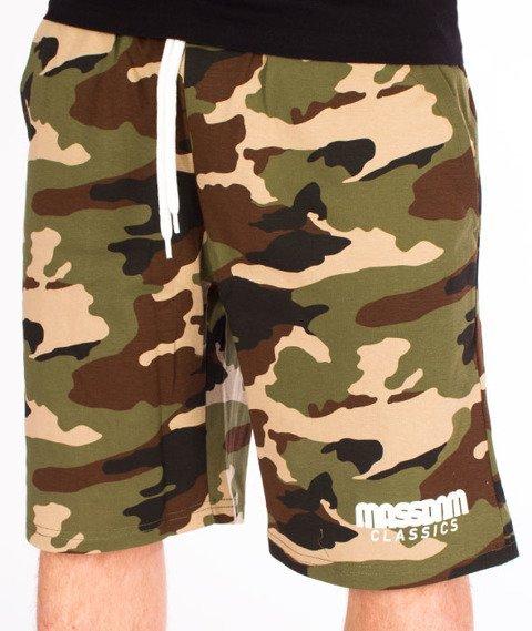 Mass-Classics Spodnie Dresowe Krótkie Woodland Camo