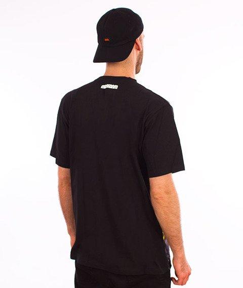 Mass-Do Not Cross T-Shirt Czarny/Multicolor