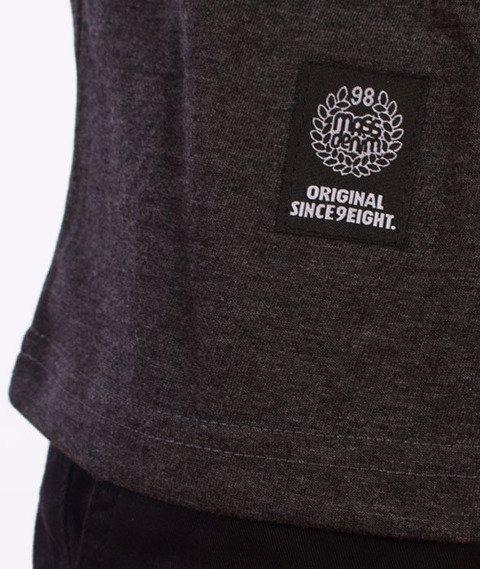 Mass-Drip Top T-shirt Grafitowy/Czarny
