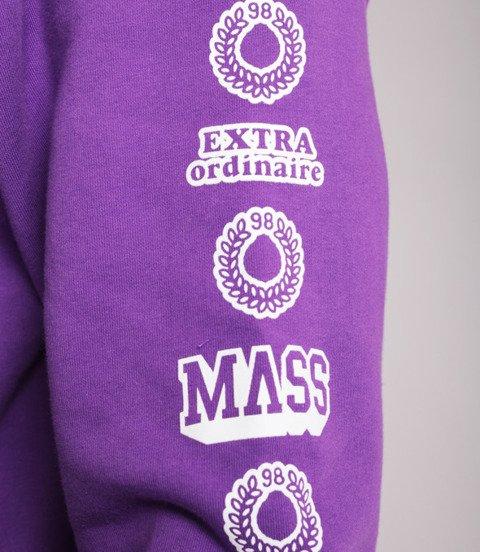 Mass HASSLE Bluza z Kapturem Fioletowy