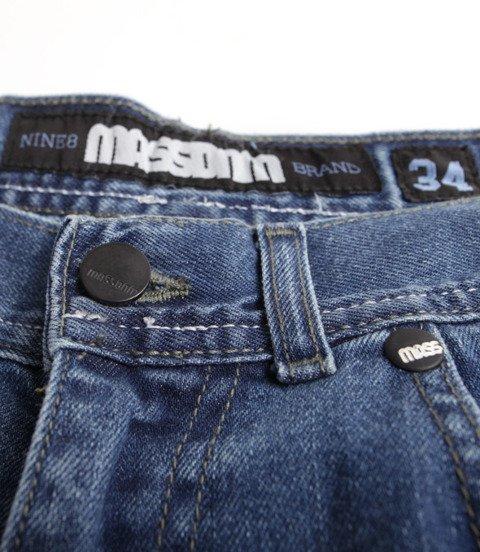 Mass Jeans Slang Baggy Fit Spodnie Krótkie Blue