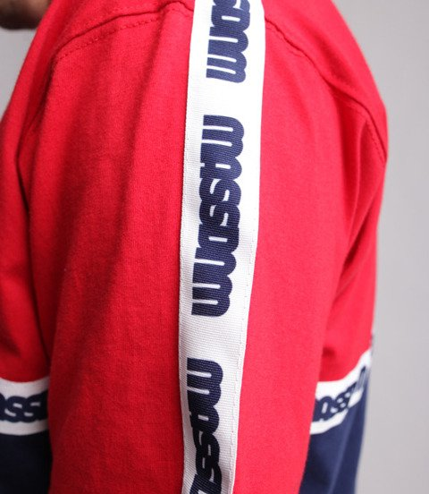 Mass Line T-Shirt Czerwony/ Granatowy