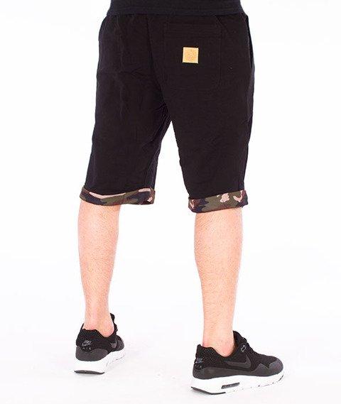 Mass-Patrol Spodnie Dresowe Krótkie Czarne