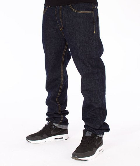 Mass-Patrol Tapered Fit Jeans Spodnie Rinse Blue