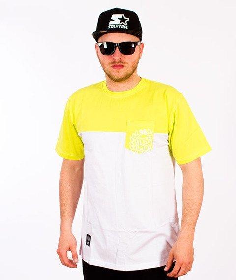 Mass-Pocket Base T-shirt Neon/Biały