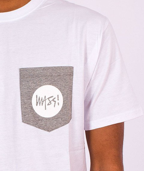 Mass-Pocket Signature T-shirt Biały