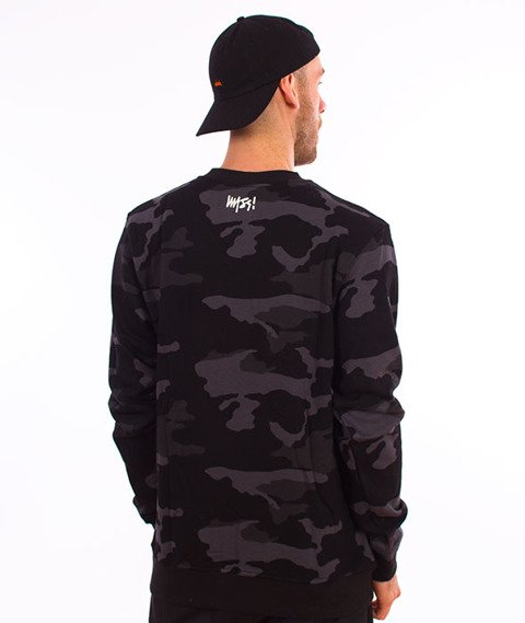Mass-Signature Crewneck Bluza Black Camo