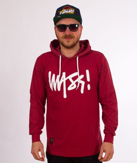 Mass-Signature Hoody Longsleeve Heather Claret