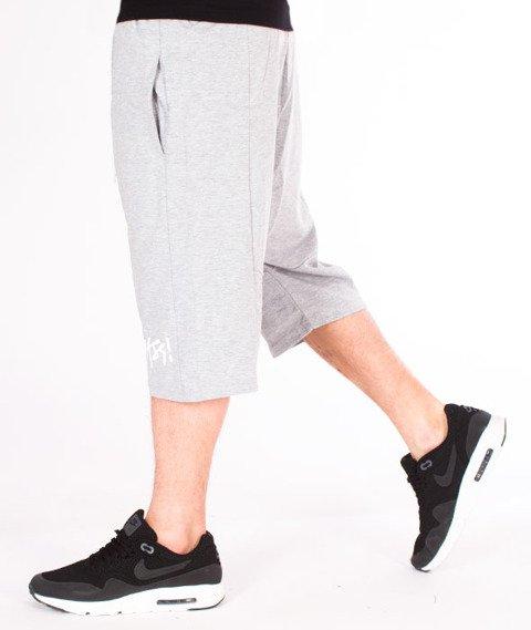 Mass-Signature (Low Crotch) Spodnie Dresowe Krótkie Light Heather Grey