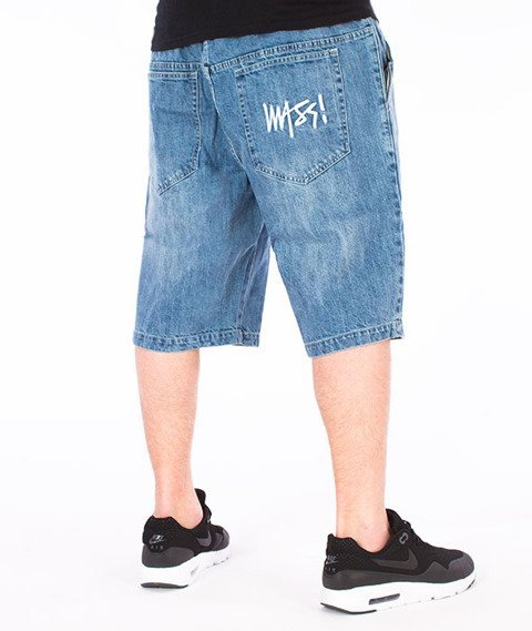 Mass-Signature Shorts Straight Light Blue
