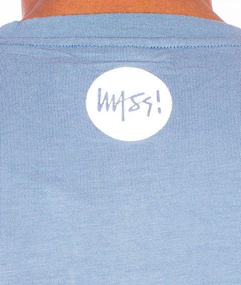 Mass-Signature T-shirt Stalowy Niebieski