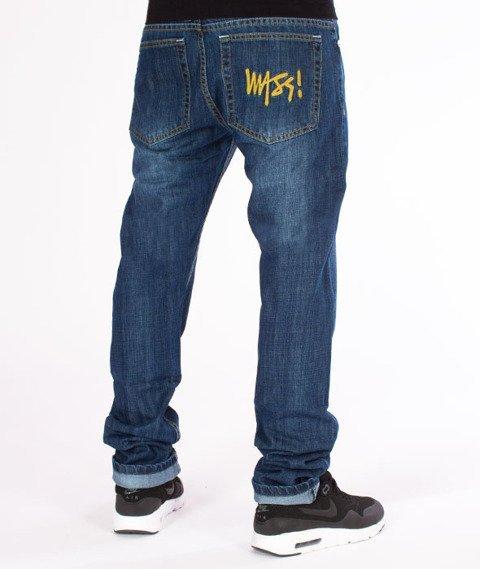 Mass-Signature Tapered Fit Jeans Spodnie Dark Blue