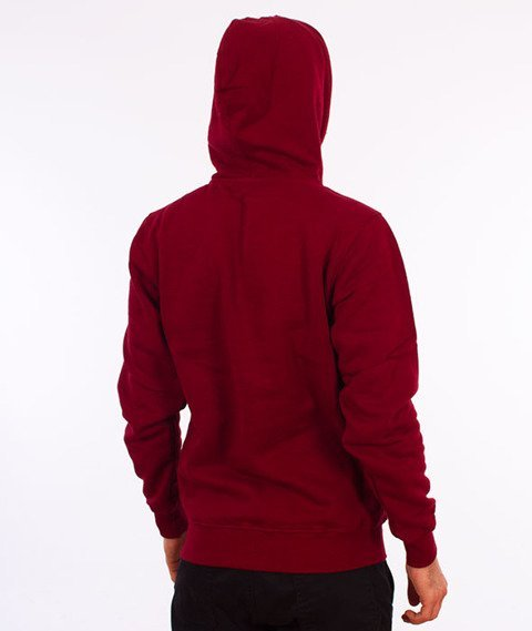 Mass-Street Sign Hoody Bluza Kaptur Bordo