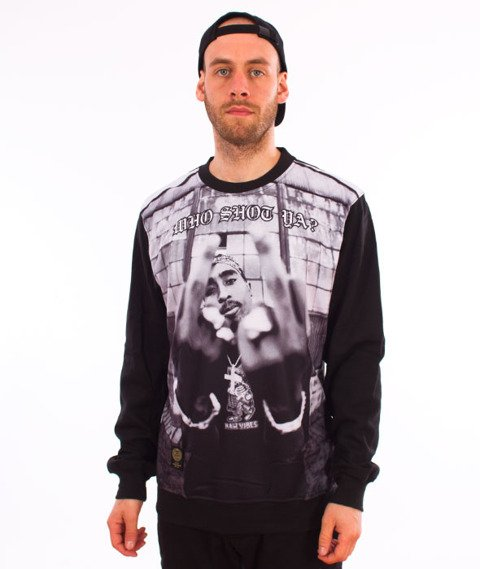 Mass-Who Shot Ya Crewneck Bluza Czarna