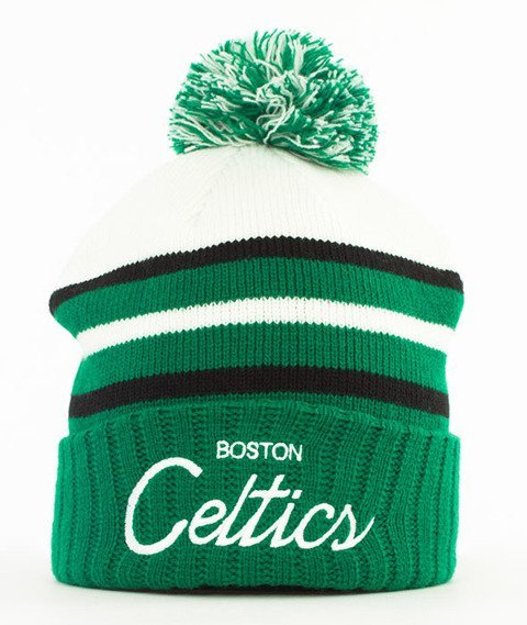 Mitchell & Ness-Boston Celtics Colour Block Special Script Knit Czapka Zimowa