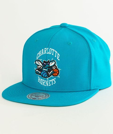 Mitchell & Ness-Charlotte Hornets Solid Team Snapback NZ979