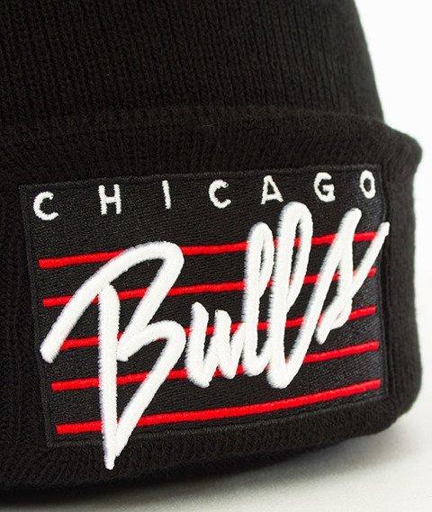 Mitchell & Ness-Chicago Bulls Cursive Script Knit Czapka Zimowa Czarna