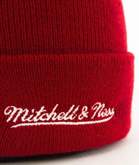 Mitchell & Ness-Cleveland Cavaliers Cursive Script Knit Czapka Zimowa Bordo