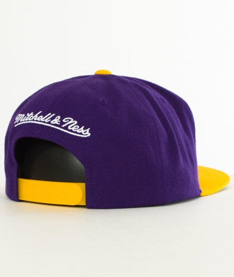 Mitchell & Ness-Los Angeles Lakers XL Logo Two Tone NJ16Z