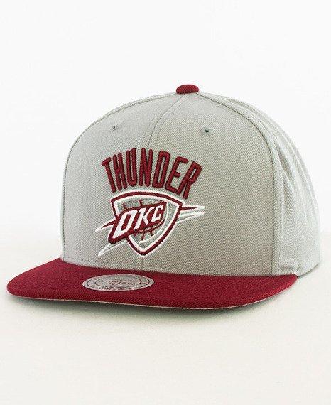 Mitchell & Ness-Oklahoma City Thunder Snapback EU956 Graphite/Burgundy