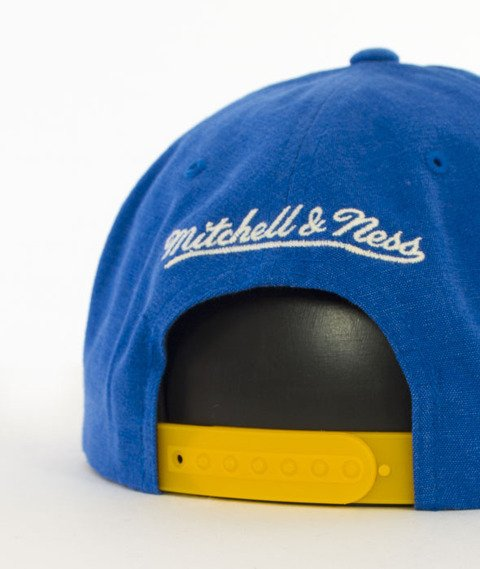 Mitchell & Ness-Sadny Off White Golden State Warriors Snapback VV16Z Niebieski/Żółty