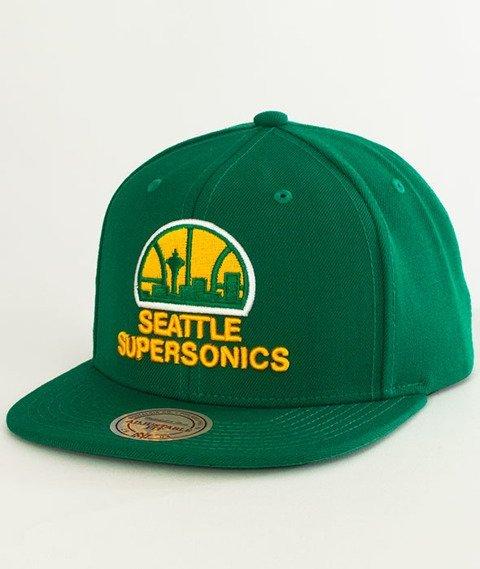 Mitchell & Ness-Seattle SuperSonics Solid Team Snapback NZ979