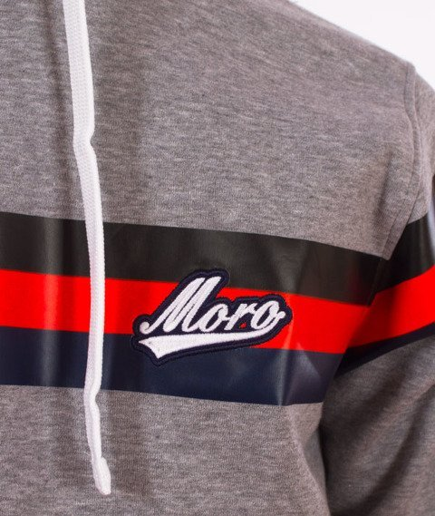 Moro Sport-Baseball Line Bluza Kaptur Szara