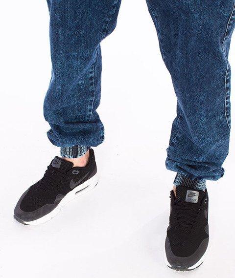 Moro Sport-M-Baseball Jogger Jeans Regular Spodnie Marmurkowe Pranie
