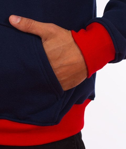 Moro Sport-Shield Bluza Kaptur Czerwona/Granatowa