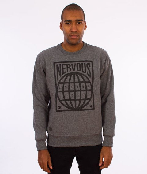 Nervous-Crewneck F17 Map Bluza Gray
