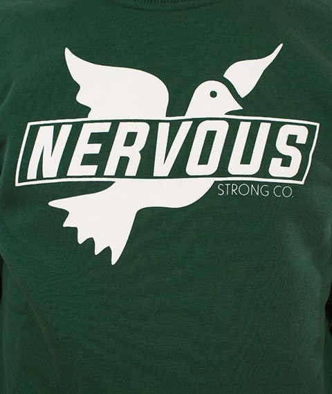 Nervous-Crewneck F17 Sticker Bluza Zielona