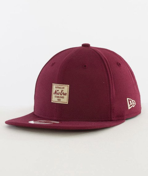 New Era-Oxford New Era Patch Snapback Burgundy