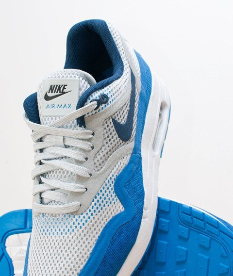 Nike-Air Max 1 Breathe Pure Platinum Medium Navy [644140-004]