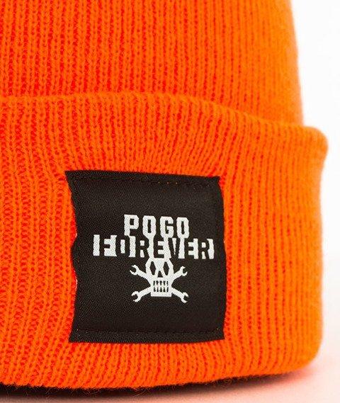 POGO-Forever Orange Beanie Czapka Zimowa Pomarańczowa
