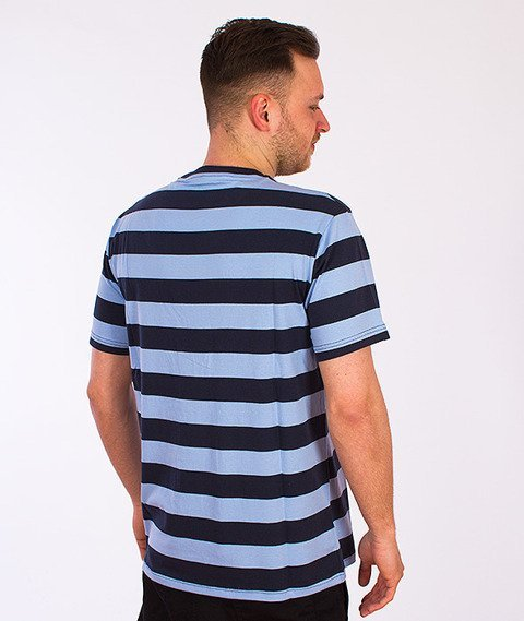 Parra-Catface Striping T-Shirt Niebieski/Granatowy