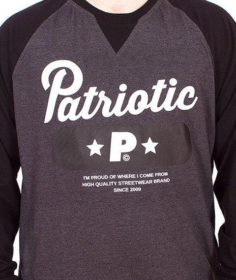 Patriotic-Base Longsleeve Grafitowy/Czarny