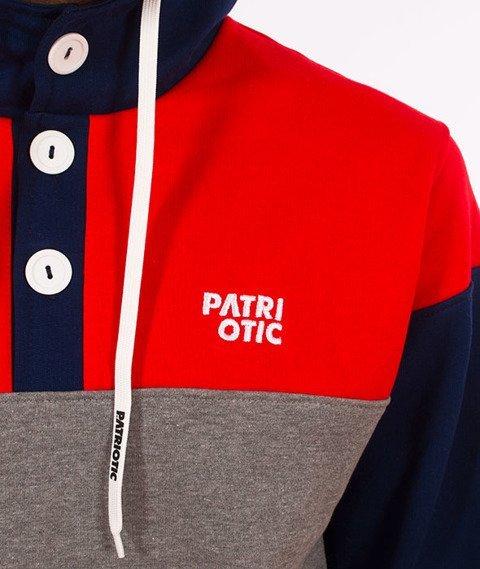 Patriotic-CLS KG Bluza Kaptur Granatowy/Czerwony/Melanż