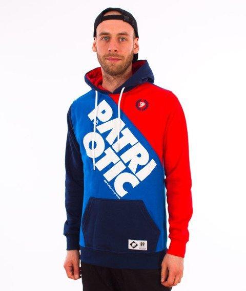 Patriotic-CLS Laur Double Bluza Kaptur Chaber/Granat/Czerwony