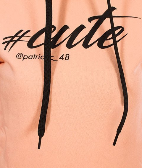 Patriotic-#Cute Bluza Kaptur Damska Pudrowy Pomarańcz